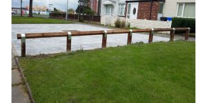 examples of our knee rail fencing