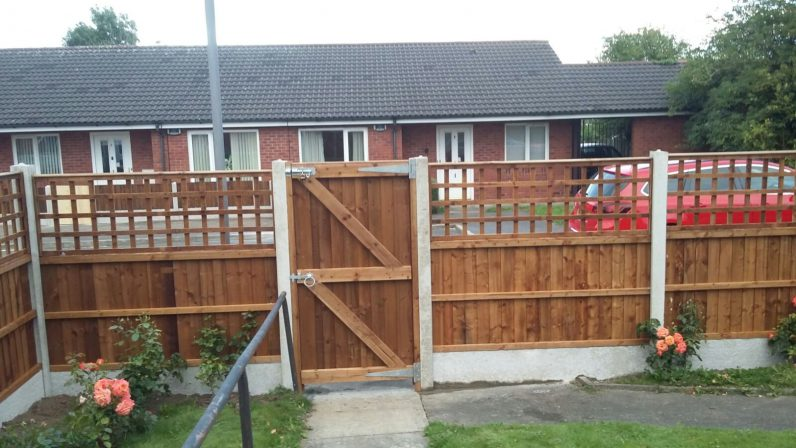 one of our supplied and fitted wooden garden gates
