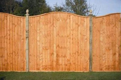 Examples of arched fence panels