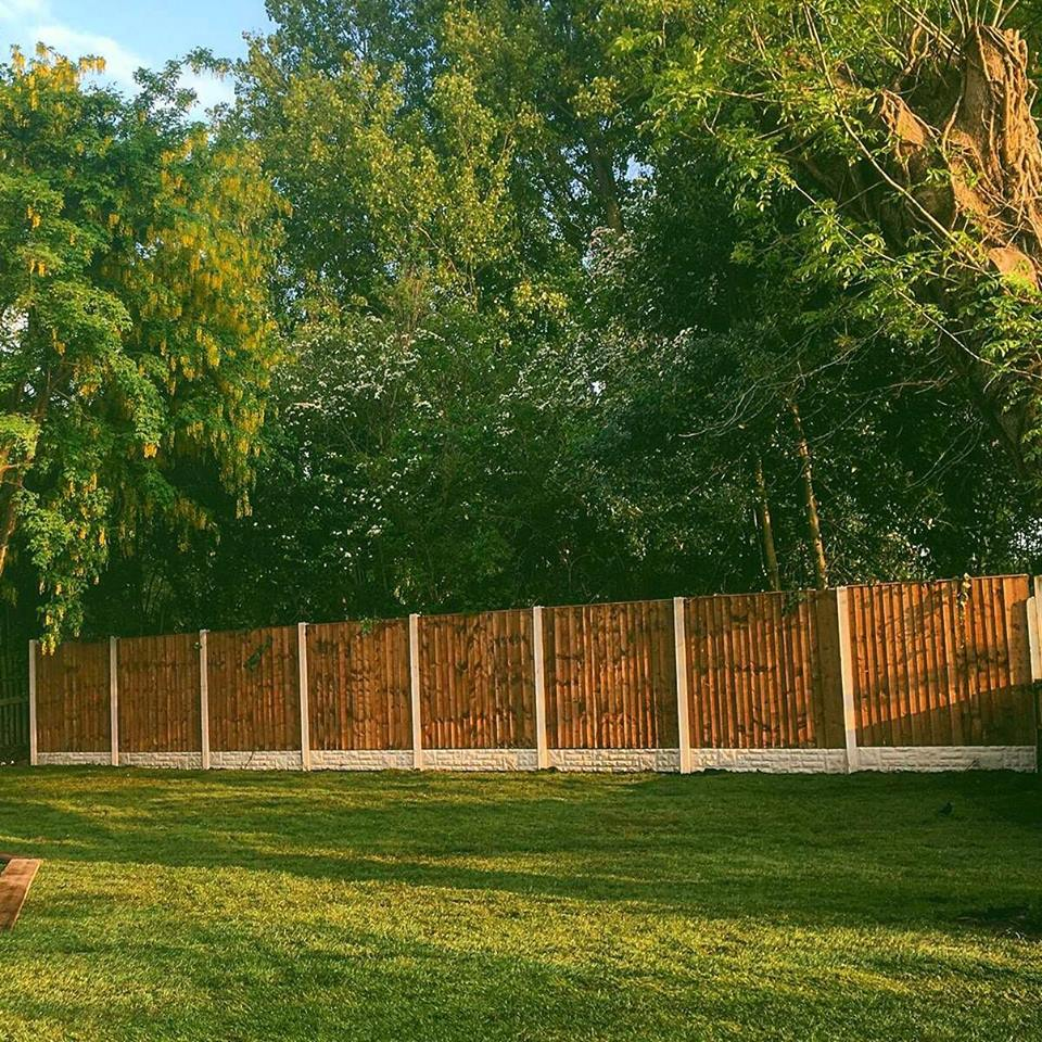 All of our fence panels are made to measure