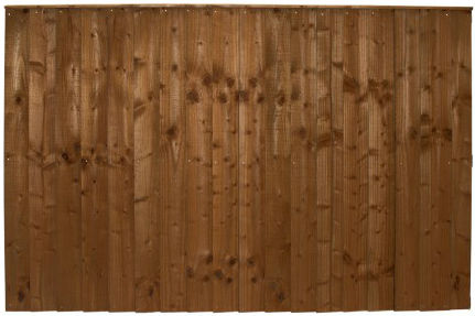 traditional feather edge privacy fence panels